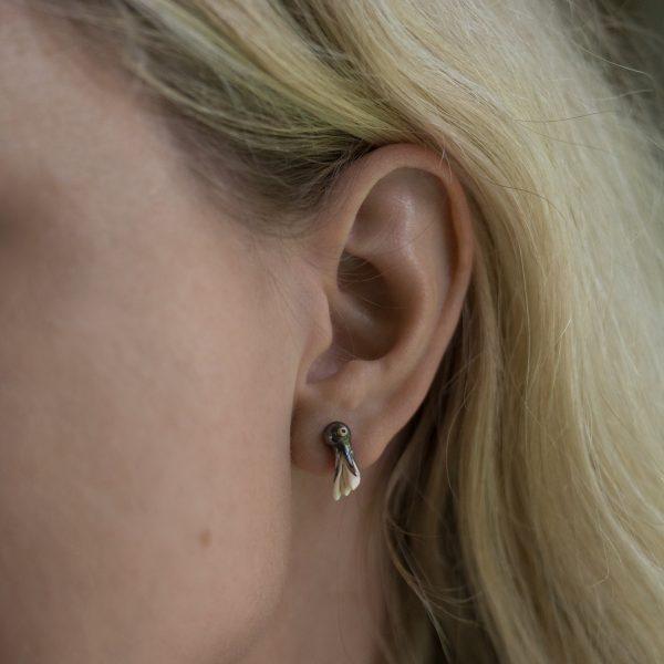 sidabriniai auskarai